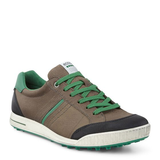 ECCO Mens Street Retro (BIRCH/BLACK/PURE GREEN)