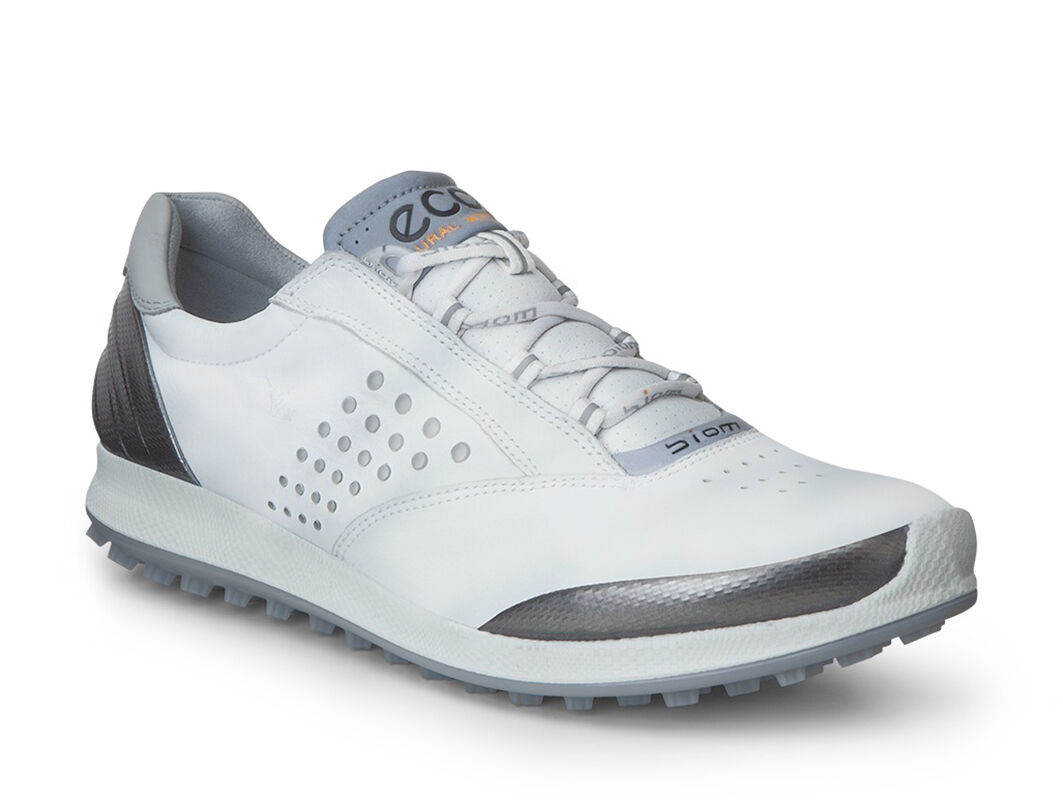 ECCO Golf - BIOM Hybrid 2 (White/Buffed Silver) Women's Golf Shoes
