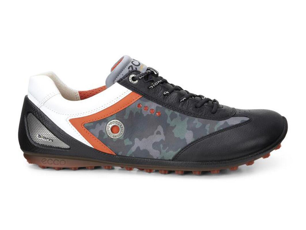 Mens Shoes ECCO Golf BIOM Zero Plus Black/Wild Dove/Fire