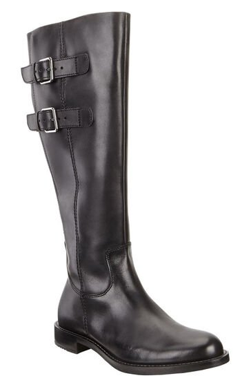 ECCO Shape 25 Tall Buckle Boot (BLACK)