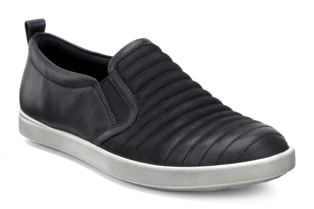 Womens Shoes ECCO Aimee Elastic Slip-On Black/Black